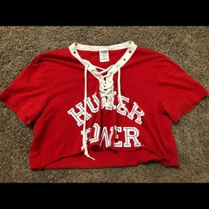 Victoria Secret PINK Husker Cropped shirt